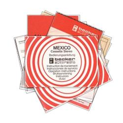 Becker Mexico Radio Manuals - Click to view album