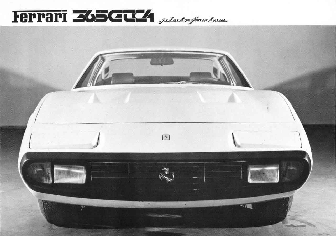 Front view press photo from Ferrari Sales Brochure 55/71
